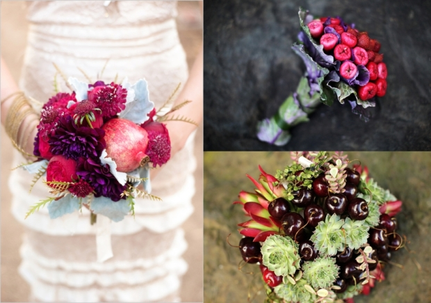 Fruit and produce bridal bouquet