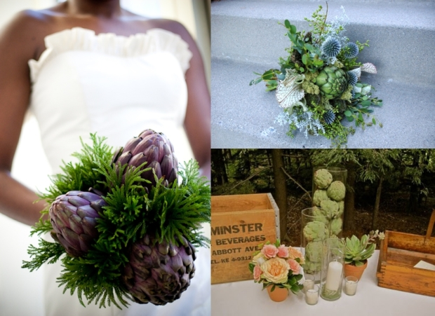 artichoke bouquets and centerpieces